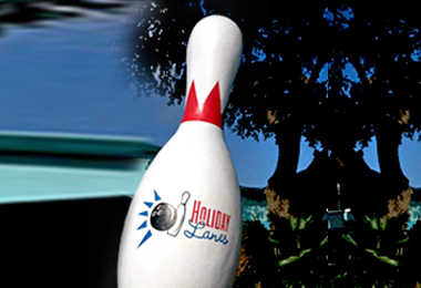Giant bowling Pin Signage Prop
